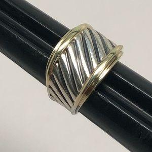 David Yurman Cigar Band Classic Ring 925/14K